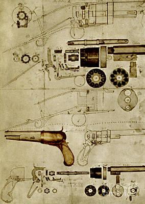 Photograph - Colt Pistol Us Patent Diagram by Science Source