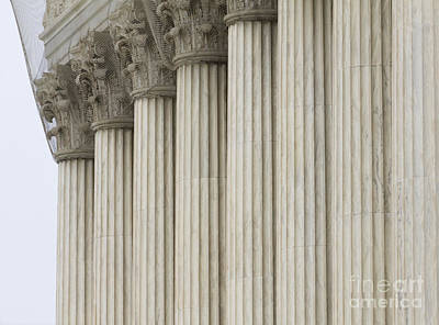 Netting Photograph - Columns Of The Supreme Court by Roberto Westbrook