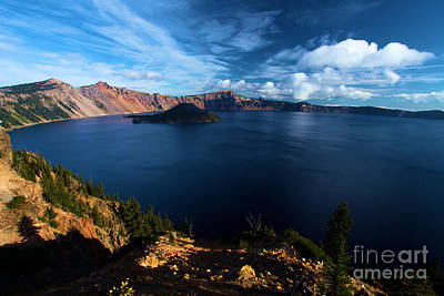 Photograph - Crater Lake Blues by Adam Jewell