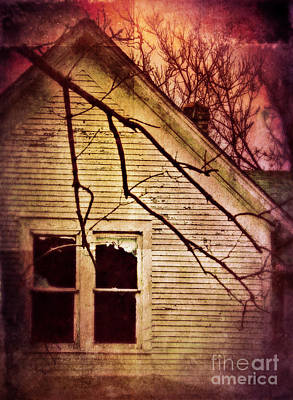 Creepy Abandoned House Art Print