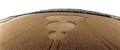 Crop Formation In Form Of Mandelbrot Set Art Print by David Parker