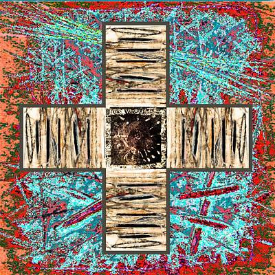Mixed Media - Cross by Branko Jovanovic