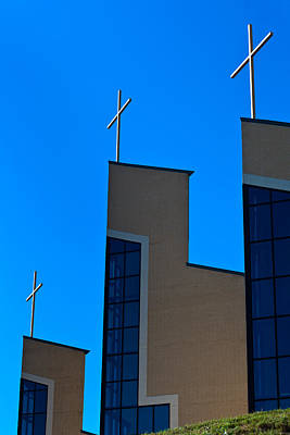 Photograph - Crosses Of Livingway Church by Ed Gleichman