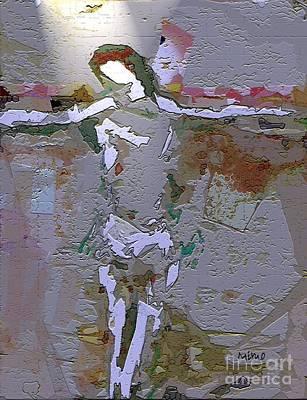 Digital Art - Crucifixion 4 by Mimo Krouzian