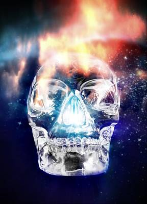 Crystal Skull, Artwork Art Print by Victor Habbick Visions