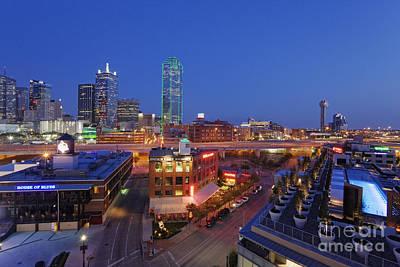 Blue Dick Photograph - Dallas Skyline by Jeremy Woodhouse
