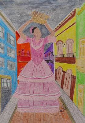 Dancer In Viejo San Juan Art Print by Jessica Cruz