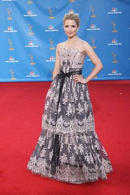 Dianna Agron Wearing A Carolina Herrera Art Print by Everett