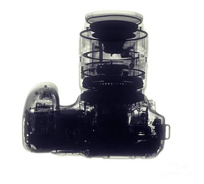 Digital Camera, X-ray Art Print by Ted Kinsman