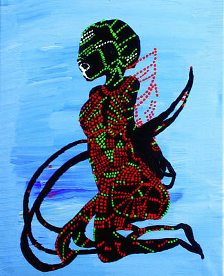 Dinka Bride - South Sudan Print by Gloria Ssali