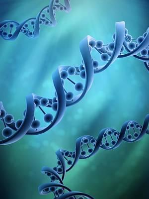 Dna Art Digital Art - Dna Molecules, Artwork by Andrzej Wojcicki