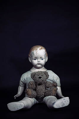 Sitting Bear Photograph - Doll And Bear by Joana Kruse