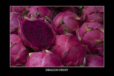 Photograph - Dragon Fruit At The Market by Zoe Ferrie