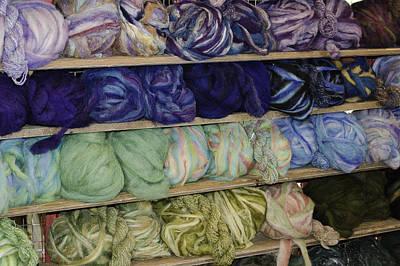 Ball Photograph - Dyed Balls Of Wool by LeeAnn McLaneGoetz McLaneGoetzStudioLLCcom