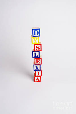 Dyslexia Art Print by Photo Researchers, Inc.