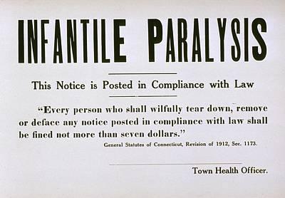 Early 20th Century Quarantine Sign Art Print by Everett