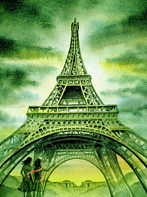 Painting - Eiffel Tower Paris France by Irina Sztukowski
