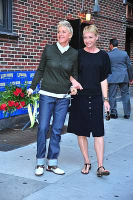 2010s Fashion Photograph - Ellen Degeneres, Portia De Rossi by Everett
