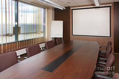Whiteboard Photograph - Empty Conference Room by Jaak Nilson