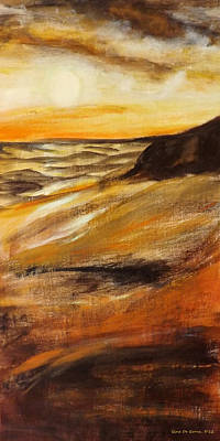Painting - End Of The Day - Vertical Sunset by Gina De Gorna