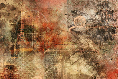 Distressed Painting - Entropy by Christopher Gaston