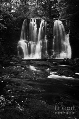 Flooding Photograph - Ess-na-crub Waterfall On The Inver River In Glenariff Forest Park County Antrim Northern Ireland Uk by Joe Fox