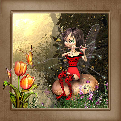 Fairy Playing The Flute Original