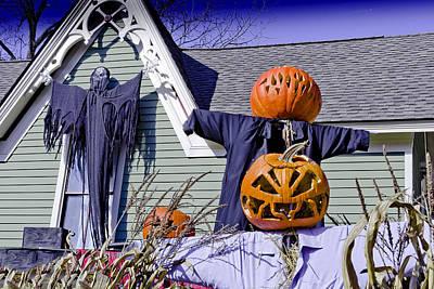 Branches Photograph - Fall  Halloween On Tillson Street by LeeAnn McLaneGoetz McLaneGoetzStudioLLCcom