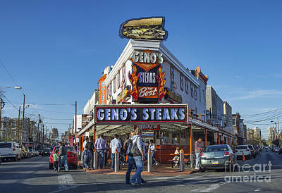 Genos Photograph - Famous Geno's Steaks by John Greim