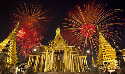 Firework On Wat Phra Kaeo  Original by Anek Suwannaphoom