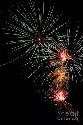 Photograph - Fireworks by Cindy Singleton