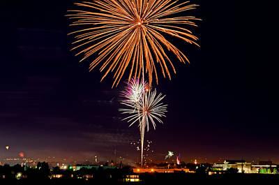 Fireworks Art Print by Elijah Weber