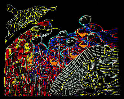 Keys To Heaven Painting - Five Wise Virgins by Gloria Ssali