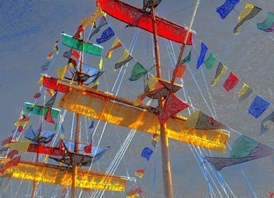 Flags Of Gasparilla Art Print by David Lee Thompson