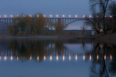 Art Print featuring the photograph Ford Parkway Bridge by Tom Gort