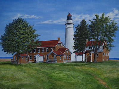 Painting - Fort Gratiot Lighthouse by Vicky Path