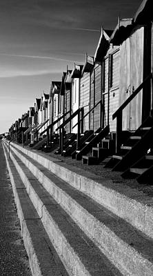 Frinton On Sea Beach Huts Art Print by Darren Burroughs