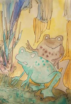 2 Frogs Art Print by James Christiansen