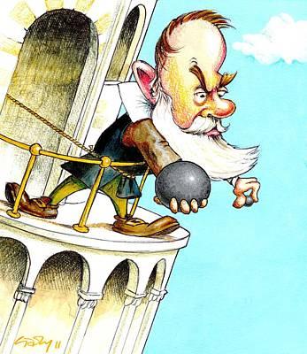 Galileo's Falling Bodies Experiment Art Print