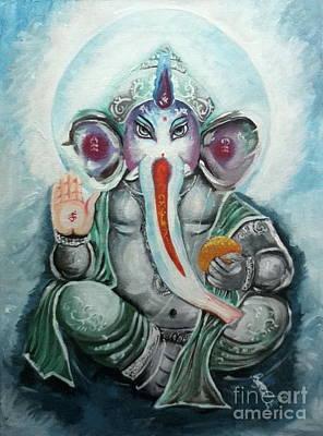 Ganesh  Art Print by Sabrina Phillips