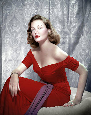 Gathered Dress Photograph - Gene Tierney, 1940s by Everett