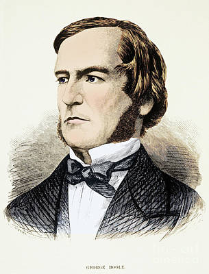 Self-taught Photograph - George Boole, English Mathematician by Photo Researchers