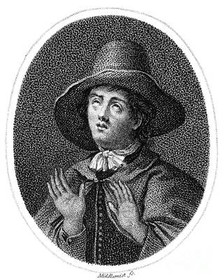 Quaker Photograph - George Fox (1624-1691) by Granger
