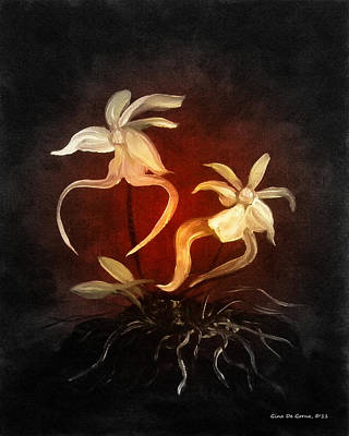 Painting - Ghost Orchids by Gina De Gorna