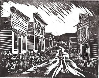 Ghost Towns Drawing - Ghost Town by Kevin Heaney