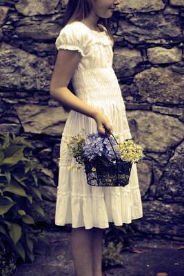 Girl With Flowers Art Print by Joana Kruse