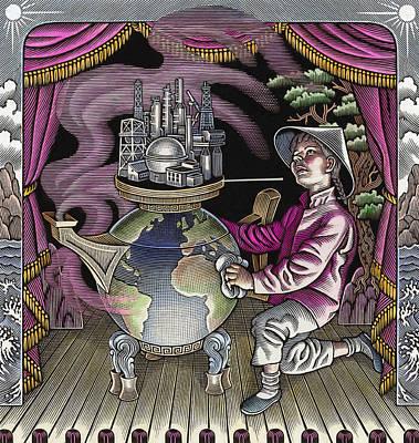 Global Warming, Conceptual Image Art Print by Bill Sanderson