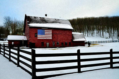 Barn Photograph - God Bless America by Bill Cannon