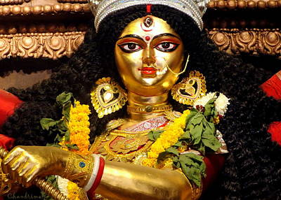 Goddess Durga Art Print by Chandrima Dhar