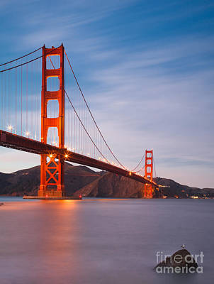 Photograph - Golden Gate Twilight by Sean Duan